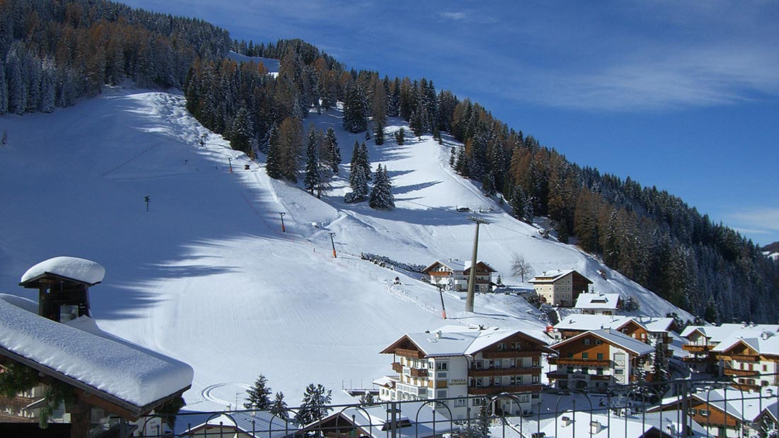 Selva Val Gardena in winter