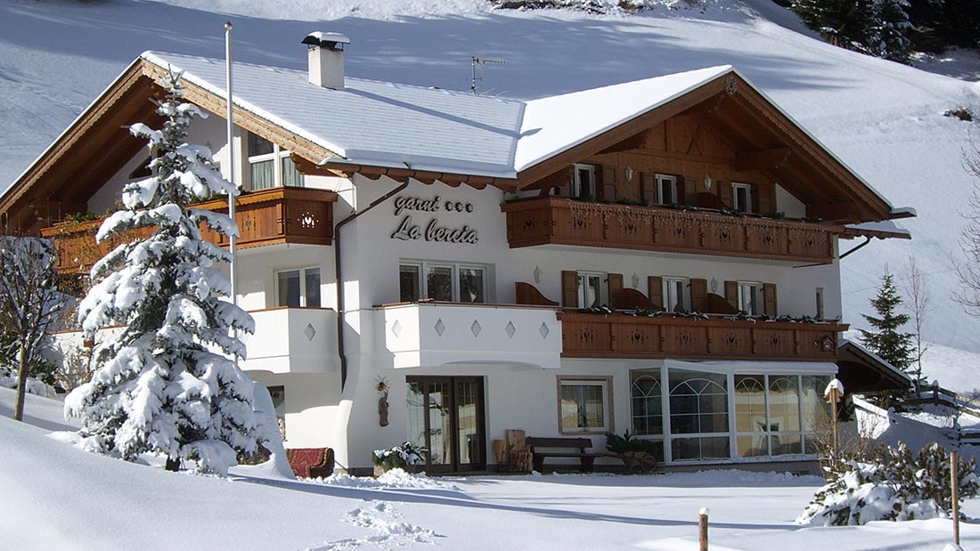 Garni Hotel La Bercia in winter